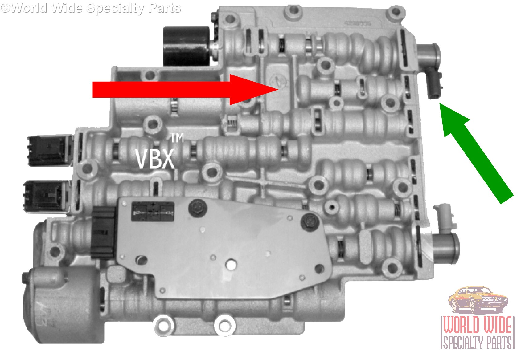 The 1996-2001 Valve Bodies will have the year cast behind the EPC  Solenoid(see RED ARROW above). The PWM Solenoid can be either tan or  gray(see GREEN ARROW ...