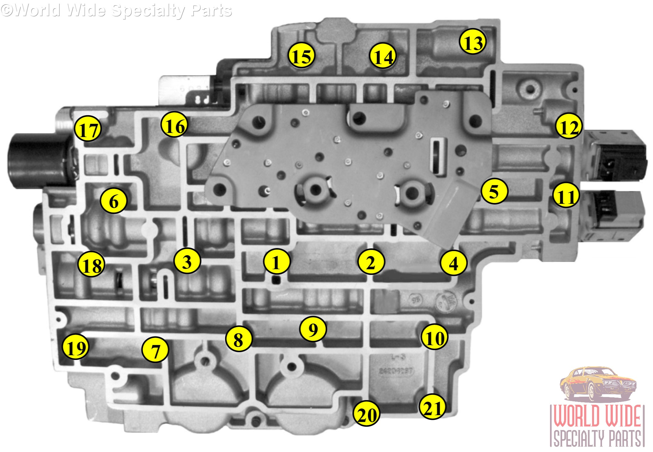 gm 4l80e valve body 1993 1996 (1 year warranty) sonnax updated and  at 2007 Cadillac Transmission Vavle Body Wiring Diagram