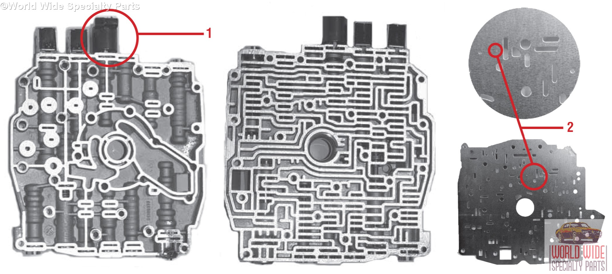 GM 400T4000E, 400T4005E Valve Body 40 40