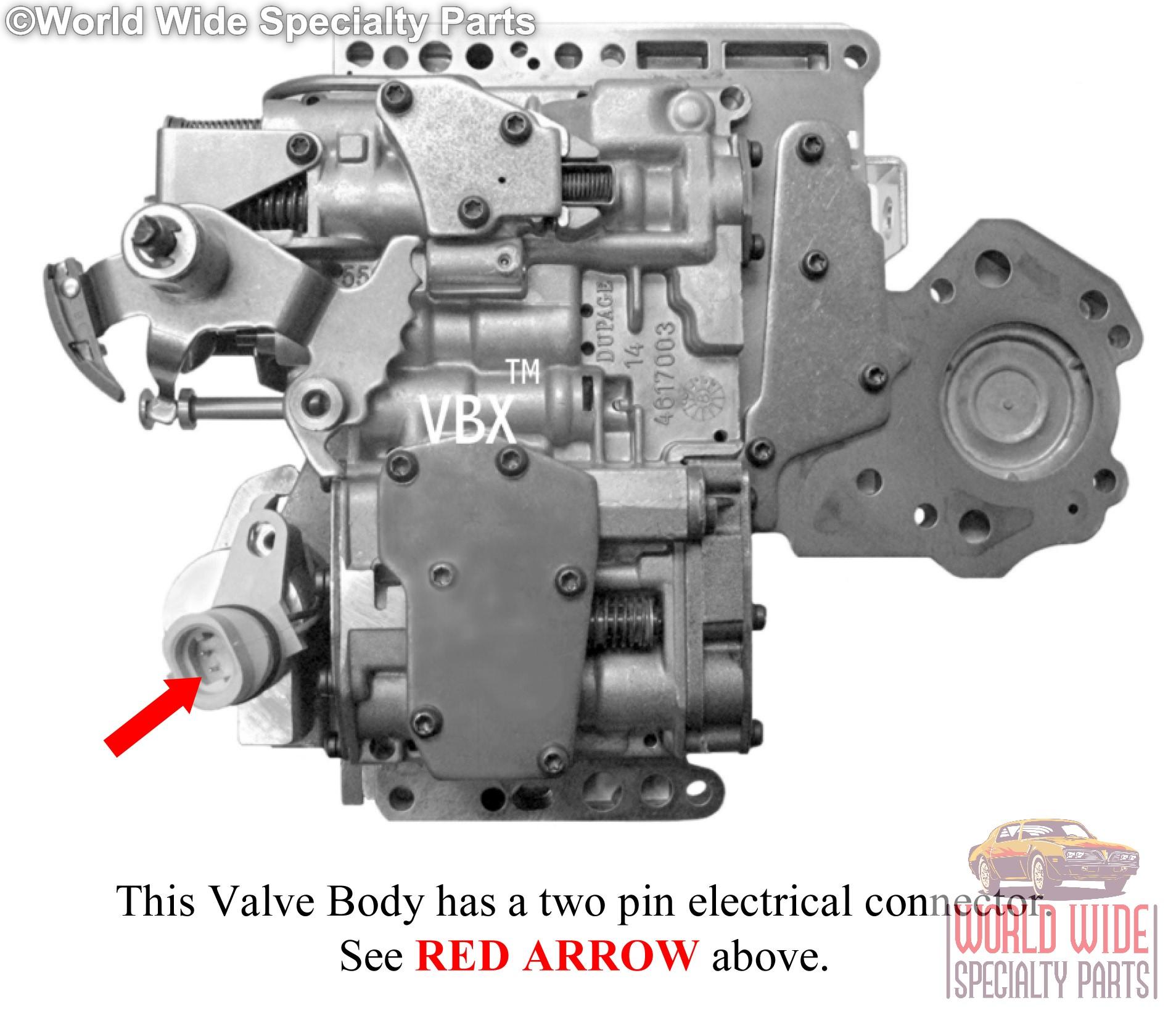 Lockup 47RH Valve Body 1990-1999 Chrysler 46RH HD Towing Mod. Boost Tube