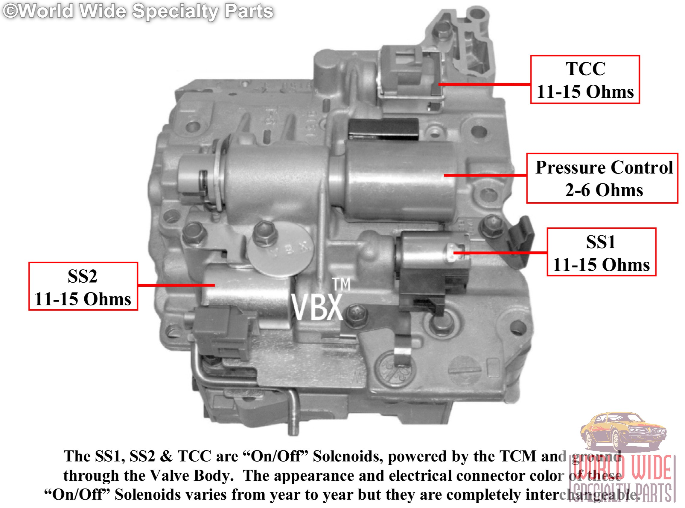 [SCHEMATICS_48IU]  AW50-40LE, AW50-42LE Valve Body with 4 Solenoids - World Wide Specialty  Parts | A606 42le Transmission Wiring Diagram |  | World Wide Specialty Parts