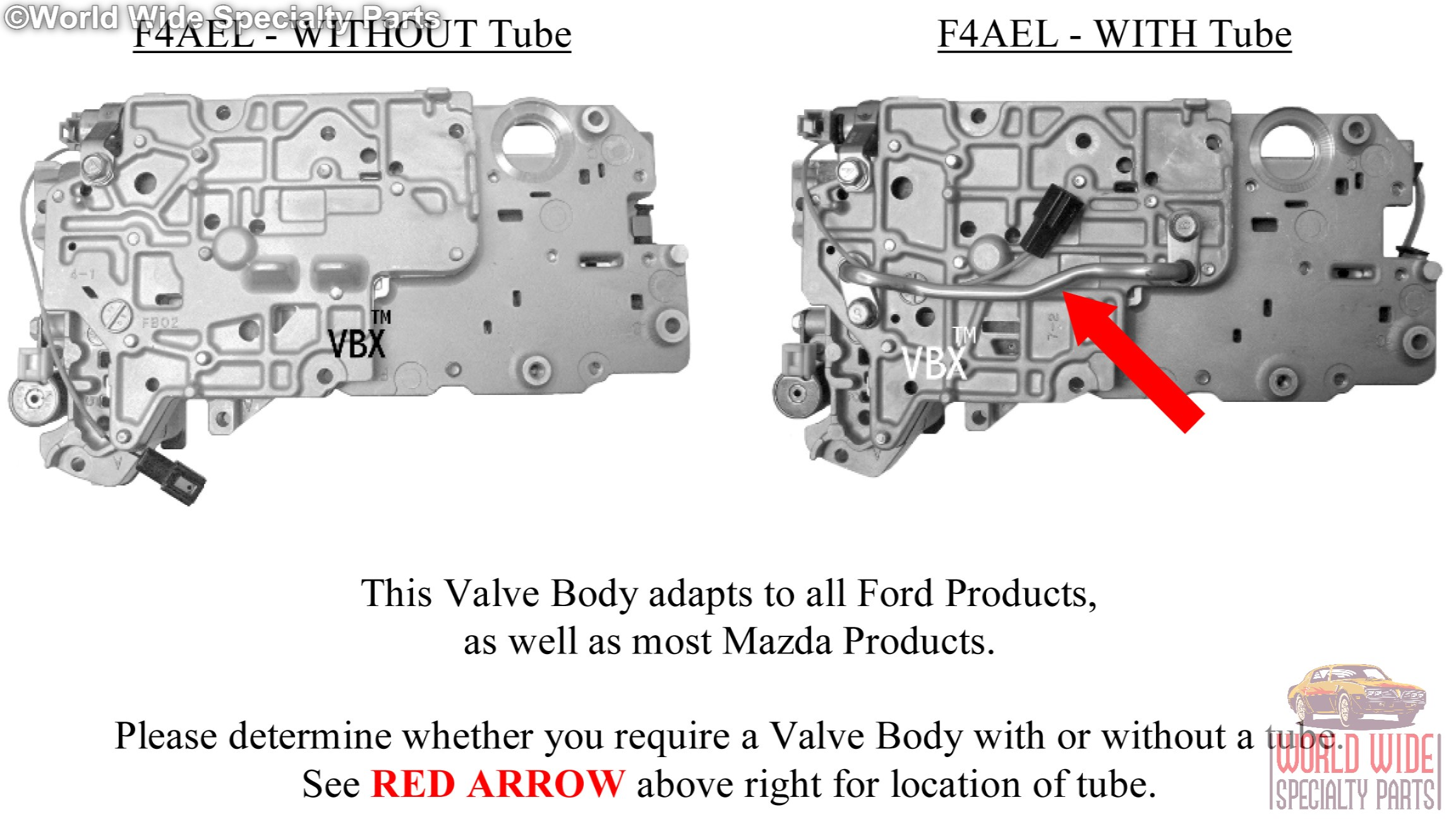 Ford Mazda F4ael F4eat Valve Body 1997 2005 Without Tube