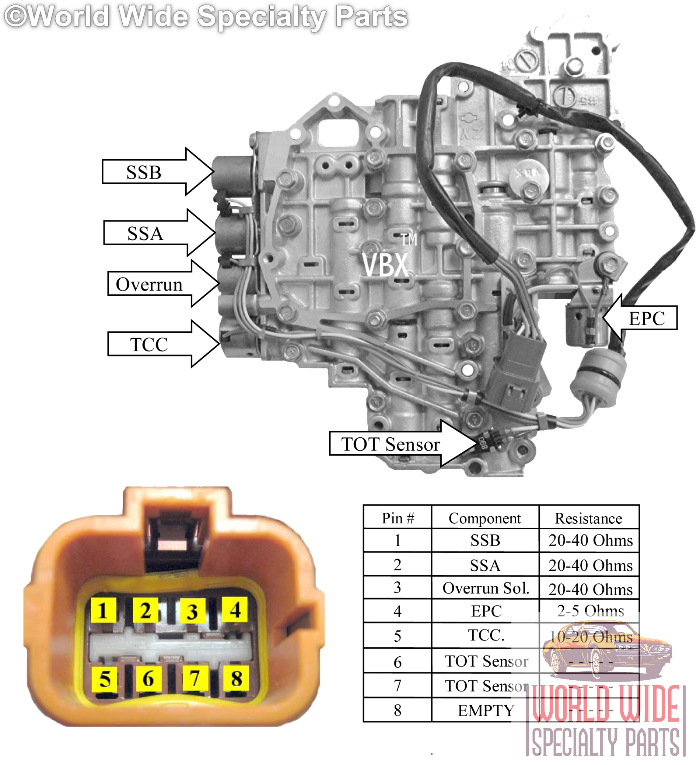 Fits Nissan RE4F04A Valve Body 1992-2000 (1 YEAR WARRANTY) Updated ...